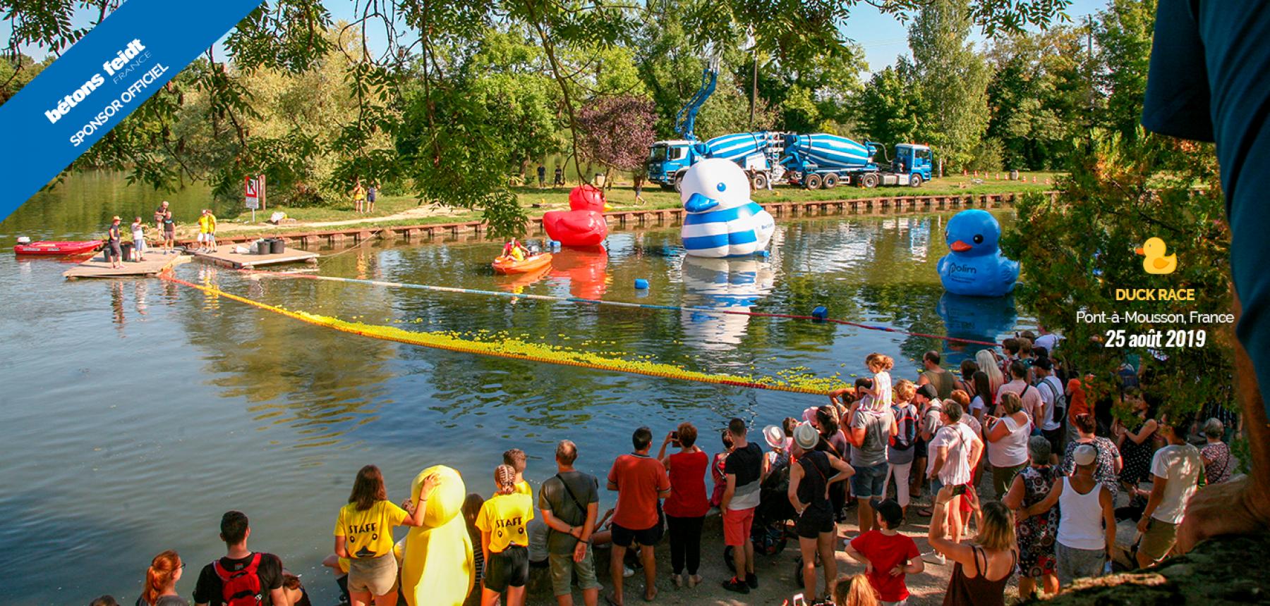 Un succès pour une première Duck Race française !