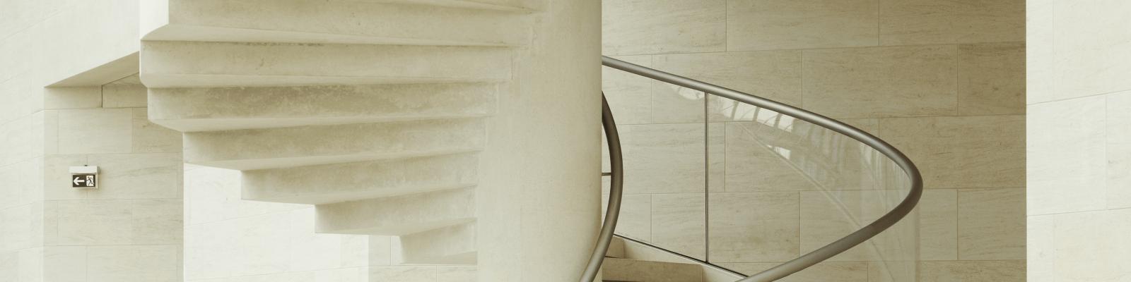 Un escalier au MUDAM